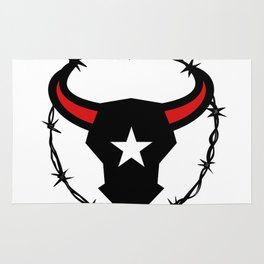 Texas Longhorn Barbed Wire Icon Rug
