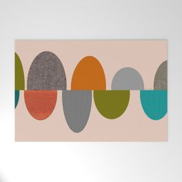 Mid-Century Modern Ovals Abstract Welcome Mat