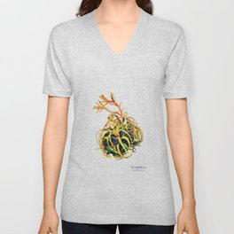 Tillandsia Xerographica Air Plant Watercolor Unisex V-Neck