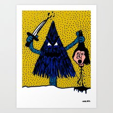 CLEVER-MEAN-EVERGREEN. Art Print