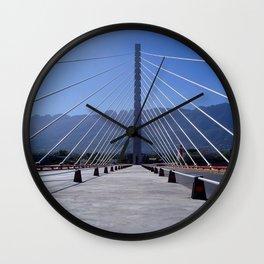 The united bridge, Monterrey, Mexico Wall Clock