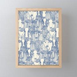 just cattle classic blue pearl Framed Mini Art Print