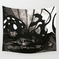 fear Wall Tapestries featuring Fear by Antony Risi