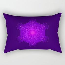 Metatron | Cube | Secret Geometry | Platonic | Matrix | Protects children Rectangular Pillow