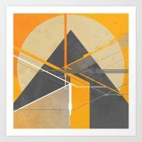 pyramid Art Prints featuring Pyramid by ErDavid