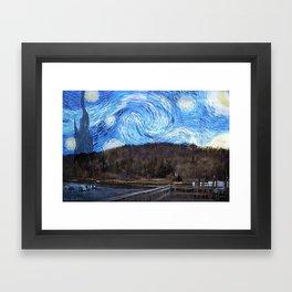 Starry Night at Cold Spring Harbor Framed Art Print