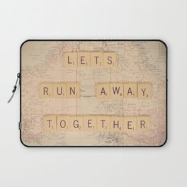 Lets Run Away Together Laptop Sleeve