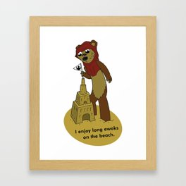I Enjoy Long Ewoks on the Beach Framed Art Print