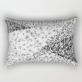 Black & White Form Rectangular Pillow