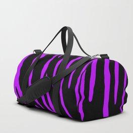 Purple Tiger Stripes Duffle Bag