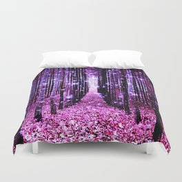 Magical Forest Pink & Purple Duvet Cover