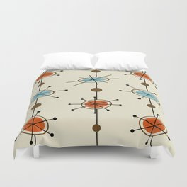 Atomic Era Satellites Duvet Cover