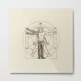 Vitruvian Alchemist Metal Print