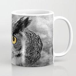 Great Horned Owl Bird Moon Tree Modern Country Farmhouse Art A415 Coffee Mug