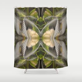 Floral bow illusion Shower Curtain