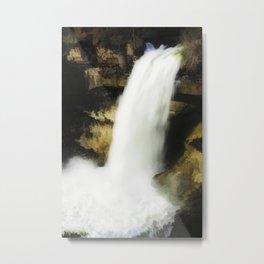 Waterfall abstraction Metal Print