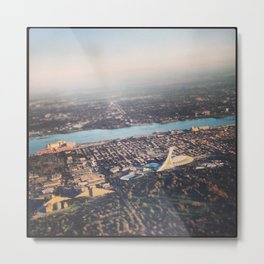 Flying over Montreal' stade Metal Print