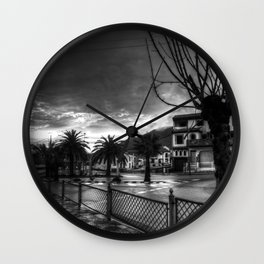 Duro invierno Wall Clock
