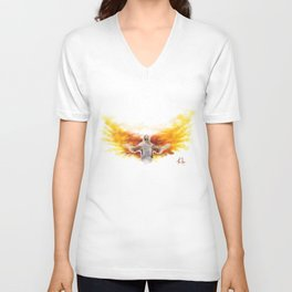 On Wings Like Eagles (Isaiah 40:31) Unisex V-Neck