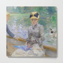 Summer's Day by Berthe Morisot Metal Print