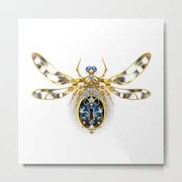 Mechanical Insect ( Steampunk ) Metal Print