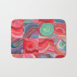 repetitive moments in air Bath Mat