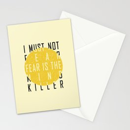 Dune - The Litany Against Fear (BLK) Stationery Cards
