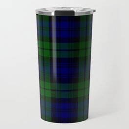 Scottish Campbell Tartan Pattern-Black Watch #1 Travel Mug