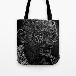 Mahatma Gandhi Typography portrait Tote Bag