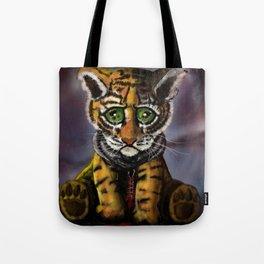 Sad Baby Tiger Tote Bag