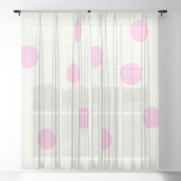 sp dots Sheer Curtain