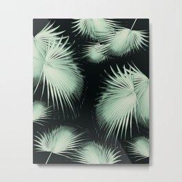 Fan Palm Leaves Paradise #3 #tropical #decor #art #society6 Metal Print
