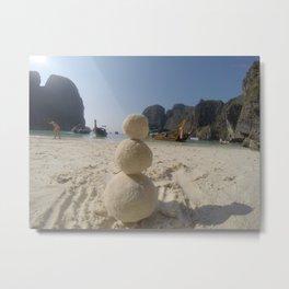sandman on a beach Metal Print
