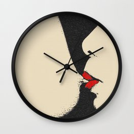 Girls love to play naughty - sexy conte Wall Clock