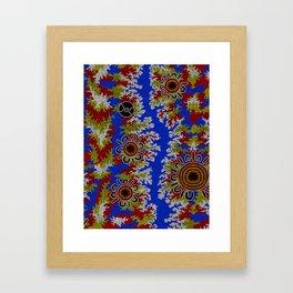 Authentic Aboriginal Art - Waterholes Corela Framed Art Print