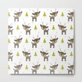 Deer and Trees Metal Print
