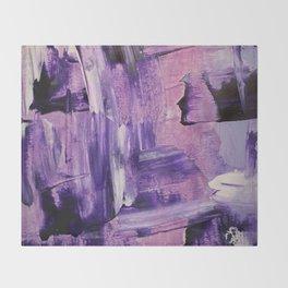 Purple Mess Throw Blanket