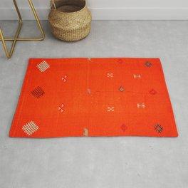 N6 | Vintage Orange Anthropologie Moroccan Artwork. Rug