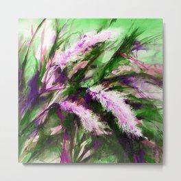 Pampas Grass 1g by Kathy Morton Stanion Metal Print