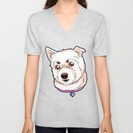 West Highland White Terrier Westie Dog Doggie Pup Unisex V-Neck