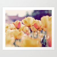 tulips Art Prints featuring Tulips by elle moss