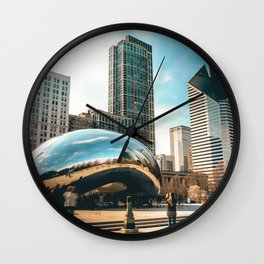 Architecture mirror art Wall Clock