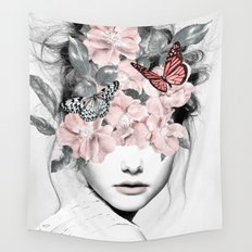 WOMAN WITH FLOWERS 10 Wall Tapestry
