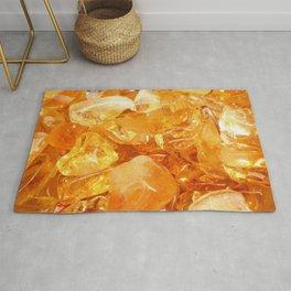"""""""Amber Quartz Solar Orange Crystal Opal Gem Stone"""" Rug"""