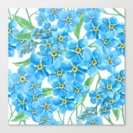 Forget me not seamless pattern Canvas Print
