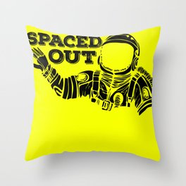 Spaced Out Astronaut Throw Pillow