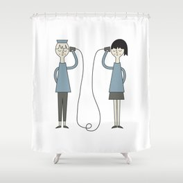 Hallo! Shower Curtain