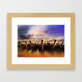 Sunset in PhiPhi Island. Framed Art Print