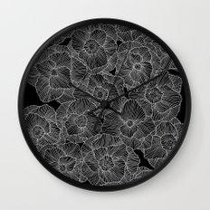 In Bloom (b&w) Wall Clock