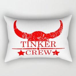 Tinker crew wild west emblem red Rectangular Pillow